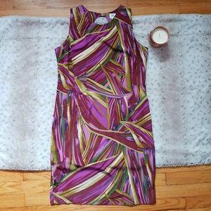 5/$25 Darian Career Shift Dress Pink Multi Size 8P
